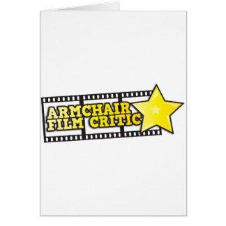 Armchair film critic greeting card