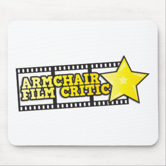 Armchair film critic mouse pad