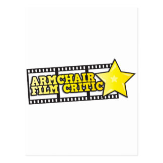 Armchair film critic postcard