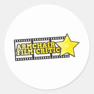 Armchair film critic sticker