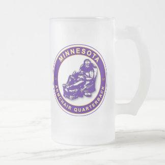 Armchair QB Minnesota Football Frosted Glass Beer Mug