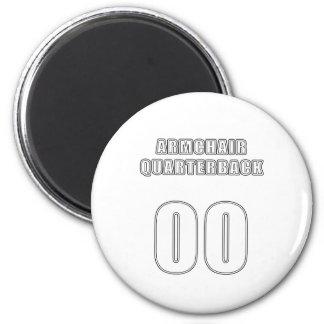 Armchair Quarterback 00 2 Inch Round Magnet