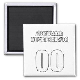 Armchair Quarterback 00 2 Inch Square Magnet