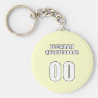 Armchair Quarterback 00 Basic Round Button Keychain
