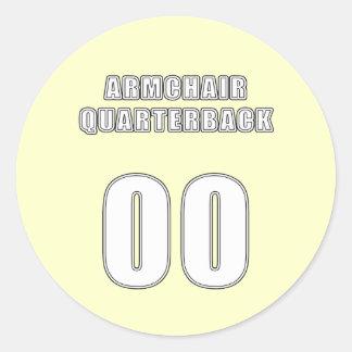 Armchair Quarterback 00 Classic Round Sticker