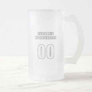Armchair Quarterback 00 Frosted Glass Beer Mug