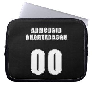Armchair Quarterback 00 Laptop Computer Sleeves