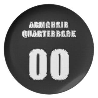 Armchair Quarterback 00 Melamine Plate