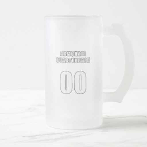 Armchair Quarterback 00 16 Oz Frosted Glass Beer Mug