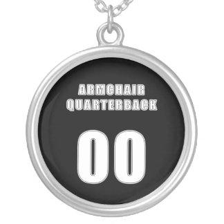 Armchair Quarterback 00 Round Pendant Necklace