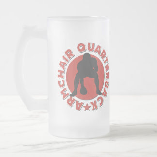 Armchair Quarterback Football Gift Frosted Glass Beer Mug