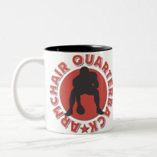 Armchair Quarterback Football Gift Two-Tone Coffee Mug