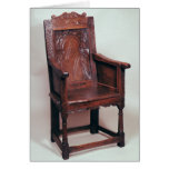 Armchair with arcaded back and boxed sides greeting card