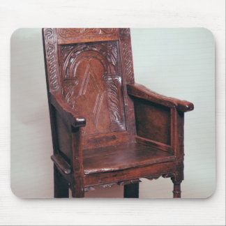 Armchair with arcaded back and boxed sides mouse pad