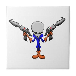 Armed Alien Grey Ceramic Tile