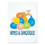 "Armed And Dangerous 5"" X 7"" Invitation Card"