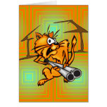 Armed and Dangerous Cat Stationery Note Card