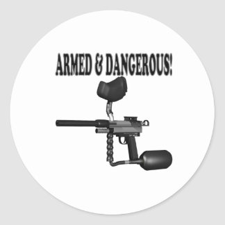 Armed And Dangerous Classic Round Sticker