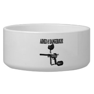 Armed And Dangerous Dog Food Bowl