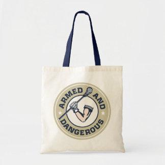 Armed and Dangerous Lacrosse Tote Bag