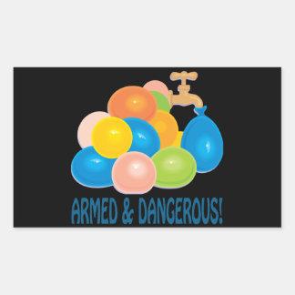 Armed And Dangerous Rectangular Sticker
