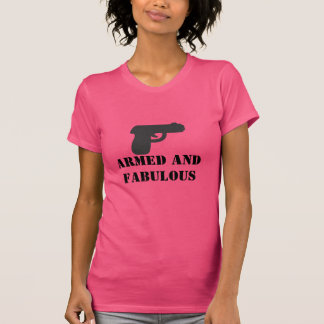 Armed and Fabulous gun lady tank top