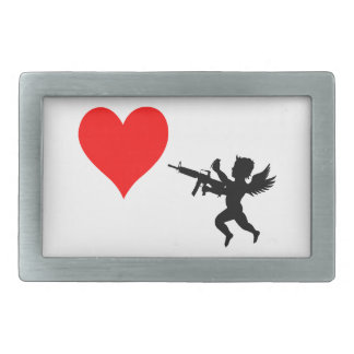 Armed Cupid Destroys Love Rectangular Belt Buckle