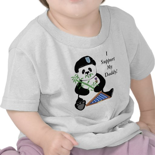 Armed Forces Day Panda Baby Tee