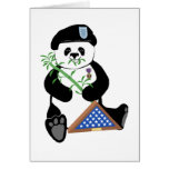 Armed Forces Day Panda Greeting Card