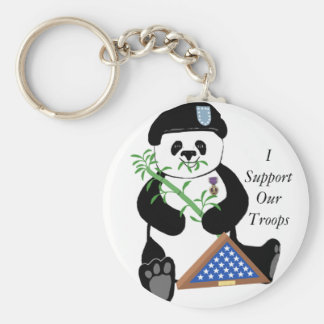 Armed Forces Day Panda Keychain