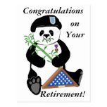 Armed Forces Day Panda Post Card