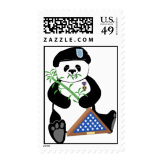 Armed Forces Day Panda Postage Stamp