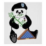 Armed Forces Day Panda Poster
