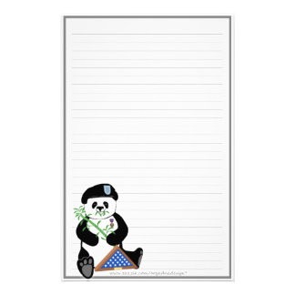 Armed Forces Day Panda Stationery