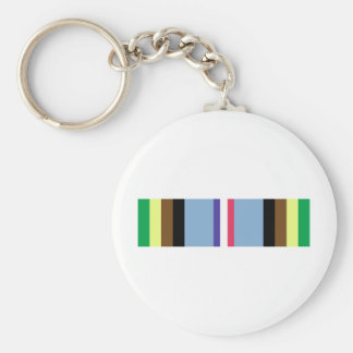 Armed Forces Expeditionary Ribbon Basic Round Button Keychain