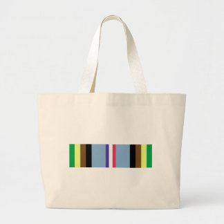 Armed Forces Expeditionary Ribbon Large Tote Bag