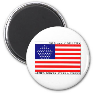 Armed Forces Stars & Stripes Mag 2 Inch Round Magnet
