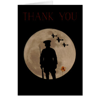Armed Forces-Thank You card. Card