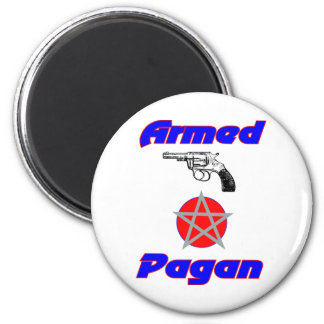 Armed Pagan 2 Inch Round Magnet
