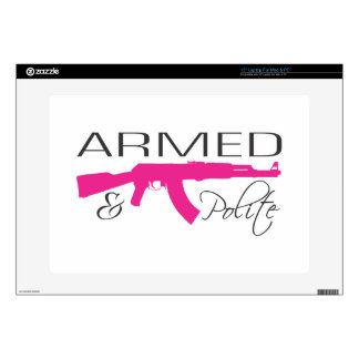 """Armed & Polite, 15"""" Laptop For Mac & PC Decal For Laptop"""