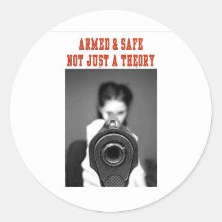 ARMED & SAFE STICKER