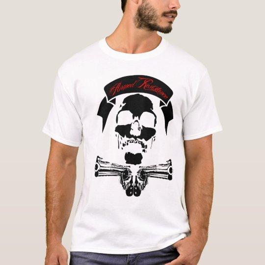 armed skull gun t T-Shirt