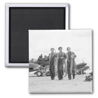 Armed to the Teeth, 1940s 2 Inch Square Magnet