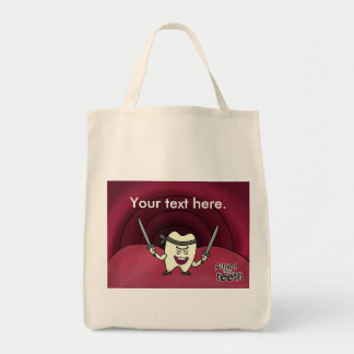 Armed to the teeth tote bag