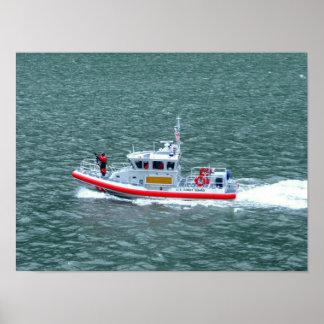 Armed U.S. Coast Guard On Patrol West Coast Poster