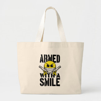 Armed with a smile canvas bags