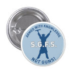 Armed with Knowledge Pinback Button