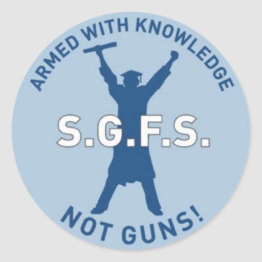 Armed with Knowledge Round Stickers