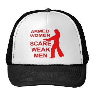 Armed Women Scare Weak Men Trucker Hat