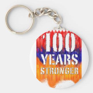 Armenia 100 años de aniversario más fuerte llavero redondo tipo pin
